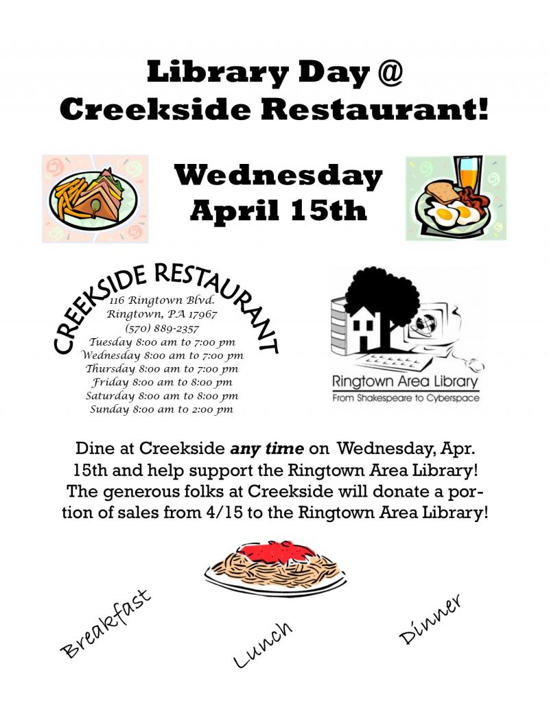 Creekside Restaurant Fundraiser