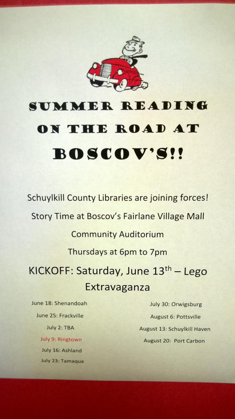 Summer Reading on the Road at Boscov's